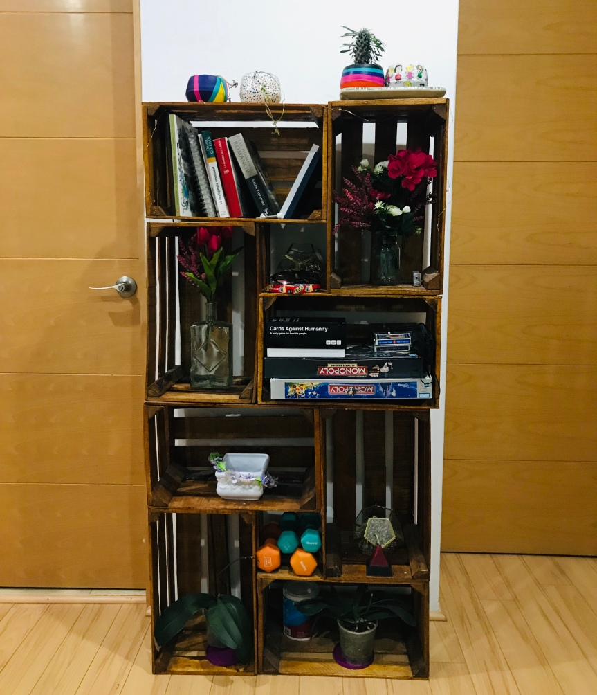 How to do a crate bookshelf  / Cómo hacer un librero dehuacales