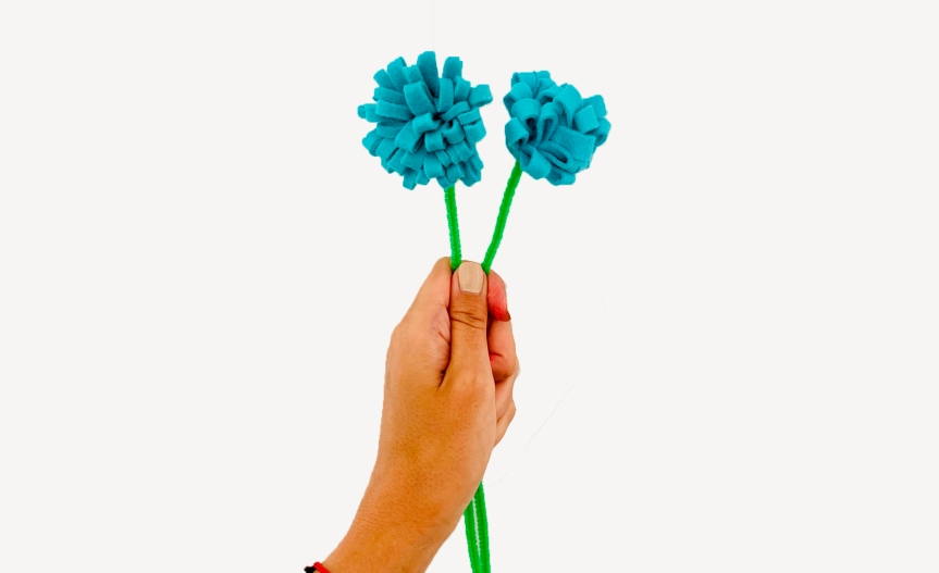 Make chrysanthemum felt flower/ Crea un crisantemo defieltro