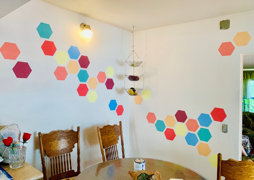 Hexagonal wall painting tutorial/ Tutorial pintar pared hexágonos