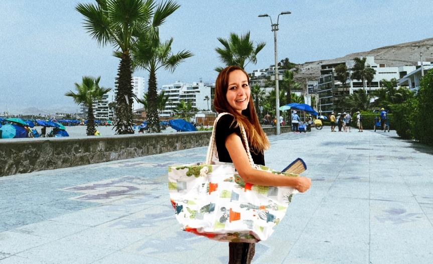 Craft a plastic beach tote bag / Crea una bolsa plástica deplaya
