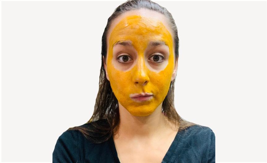 Turmeric mask for glowing skin/ Mascarilla cúrcuma pielbrillante