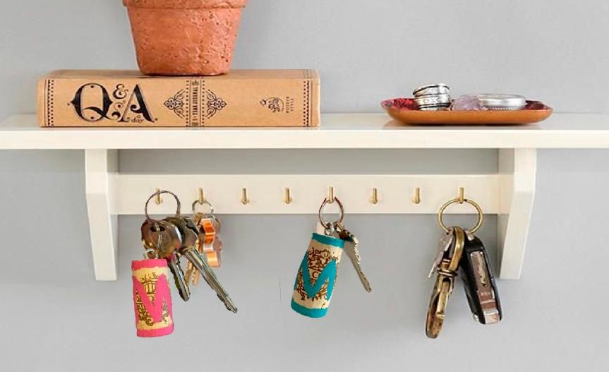 How to make a cork keychain? / ¿Cómo hacer un llavero decorcho?