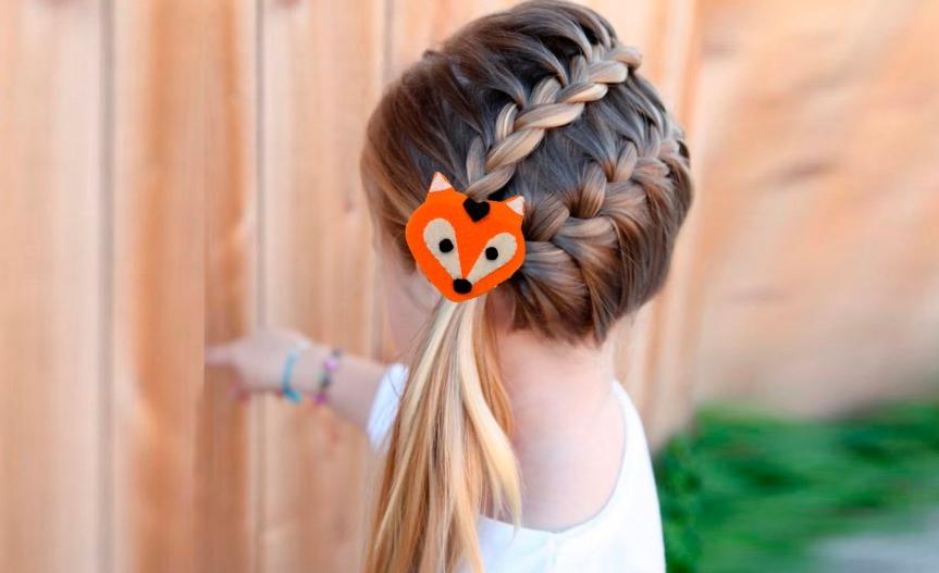 Make a kids fox hair clip / Haz un gancho de zorro paraniña