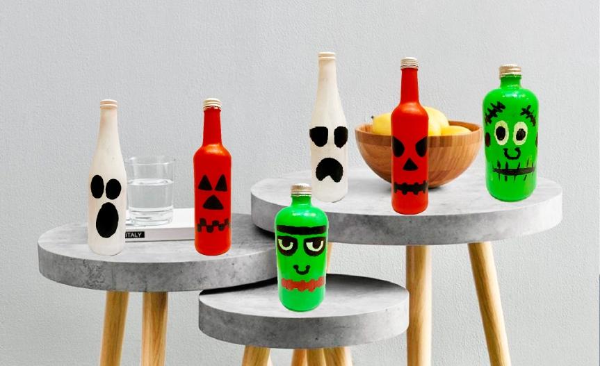 How to make Halloween bottles?/¿Cómo hacer Botellas deHalloween?