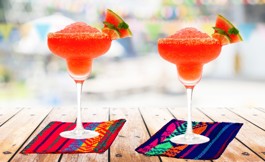 Make mexican fabric coasters / Haz porta vasos de telamexicanos