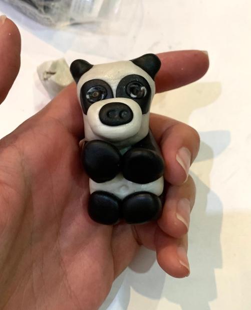 polymer clay panda