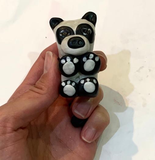 panda arcilla polimerica