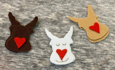 felt reindeer