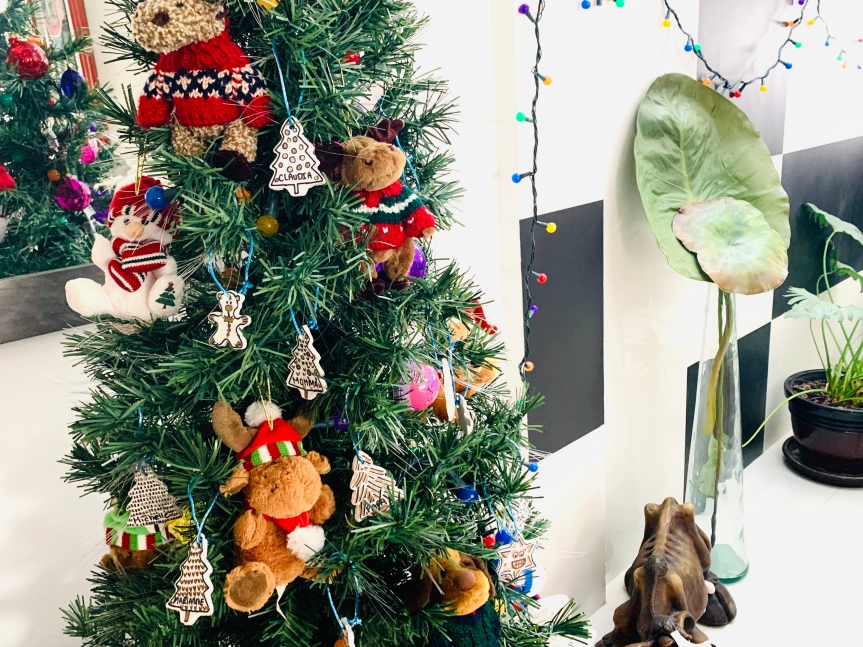 Air clay Christmas ornaments / Adornos navidad de pastamoldeable