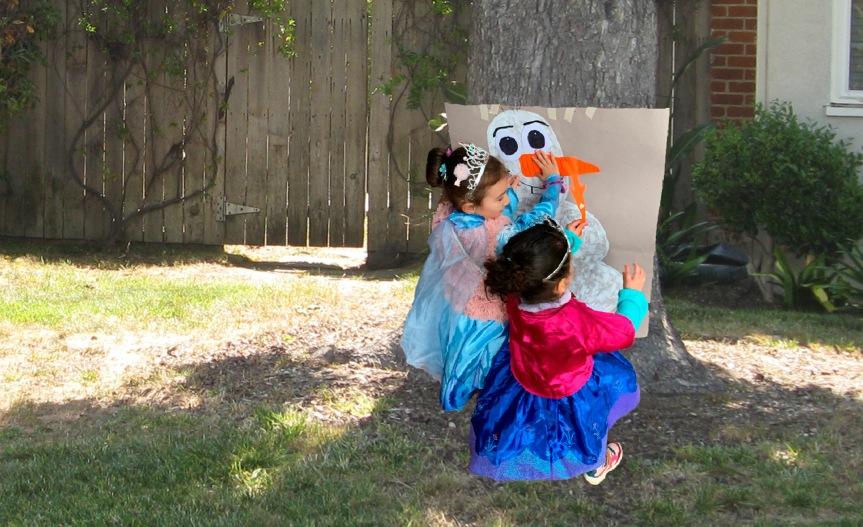 Make an Olaf kids party game/Haz un juego de fiesta infantilOlaf
