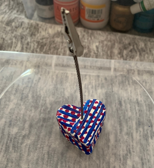 heart photo holder diy
