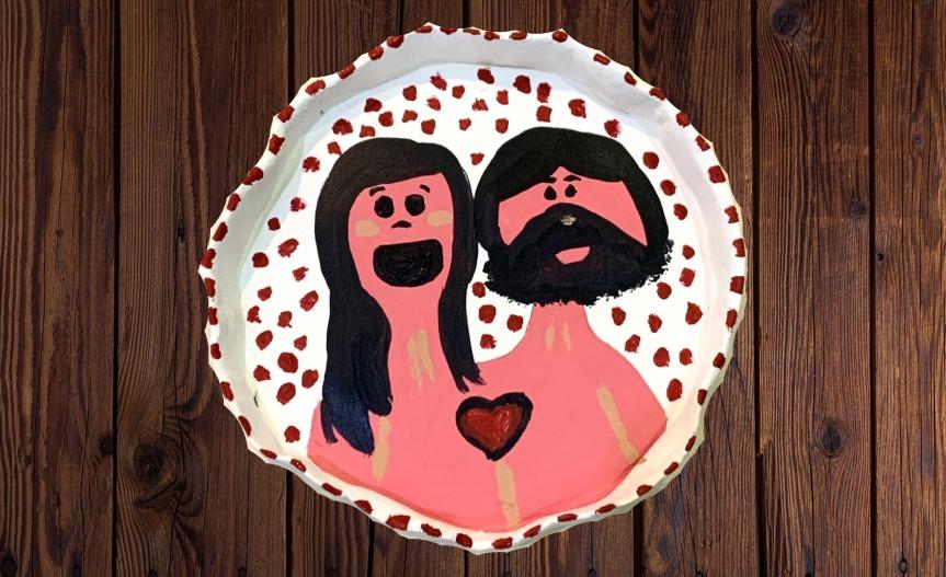 Valentine's decorative plate / Plato decorativo de SanValentín