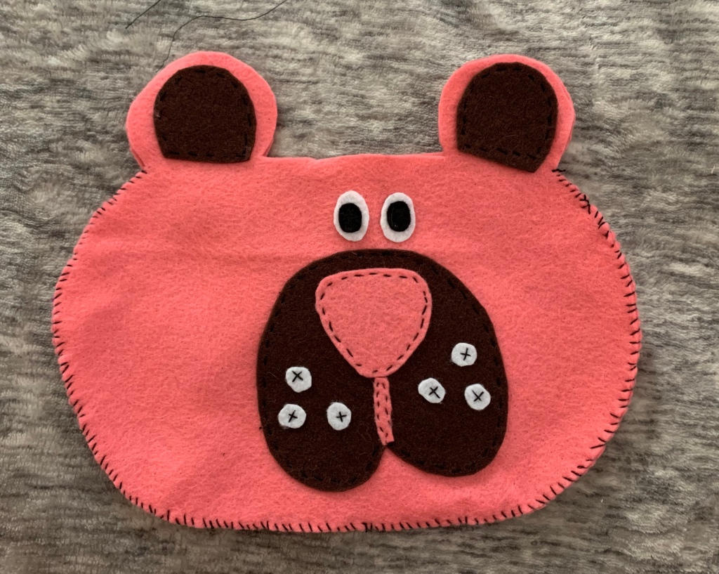 diy felt bear bag tutorial
