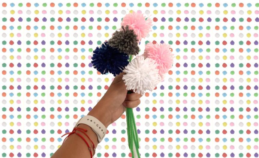 DIY Pom Poms Bouquet / Ramo de PomponesDIY