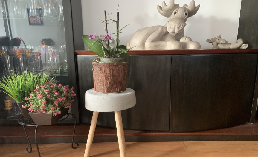 How to make a concrete stool / Como hacer un DIY banco de cemento