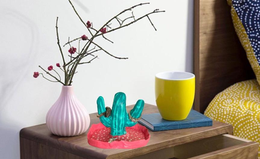 DIY Cactus Jewelry Holder/ Cactus joyero organizador deanillos