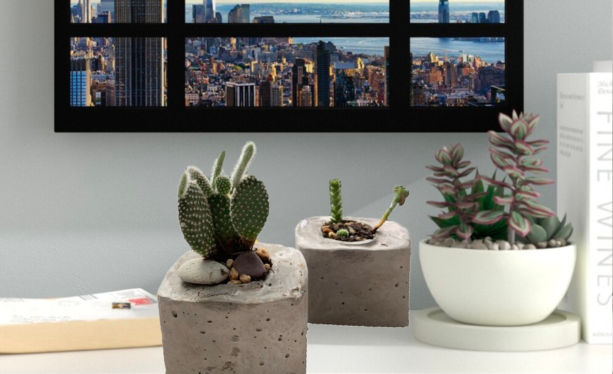 How to make concrete planters? / ¿Como hacer Macetas de cemento?