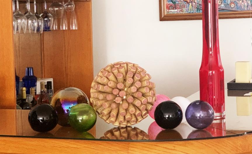 Wine Cork Spheres / Esferas decorchos